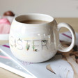 Lisa Angel Ladies' Iridescent Floral 'Sister' Mug