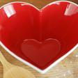 Sagaform Heart Bowl and Wooden Ladle Set