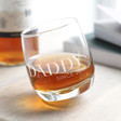 Lisa Angel Rounded Base Personalised Whisky Glass