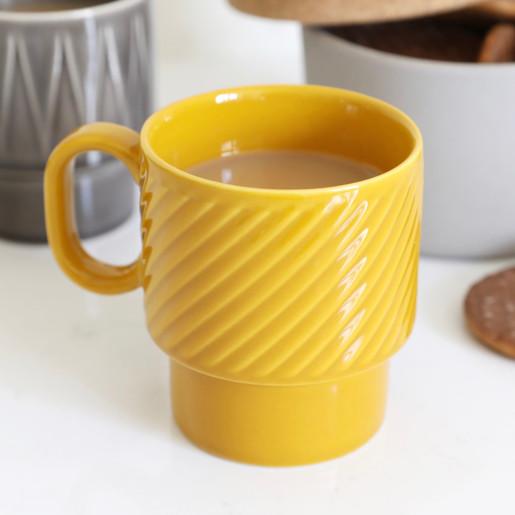 1d8f7e7316c Sagaform Coffee & More Stacking Mug in Yellow