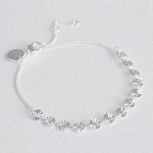 Diamond Tip Disc Bracelet in Silver