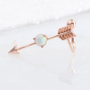 Rose Gold Arrow and Opal Ear Cuff