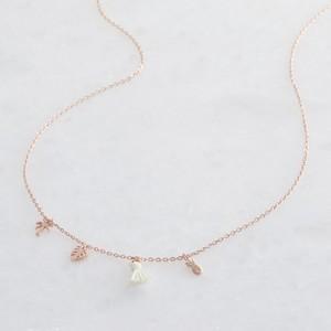 Rose Gold Botanical Charm Necklace