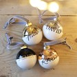 Lisa Angel Unisex Personalised Metallic Dipped Ceramic Bauble