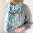 Lightweight Hummingbird Scarf on Model