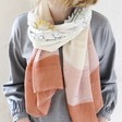 Lightweight Zodiac Print Scarf on Model