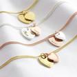 Lisa Angel Ladies' Vermeil Personalised Sterling Silver Double Heart Bracelet