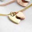 Lisa Angel Ladies' Hand-Stamped Personalised Sterling Silver Double Heart Bracelet