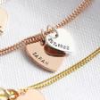Lisa Angel Hand-Stamped Personalised Sterling Silver Double Heart Bracelet
