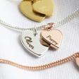 Lisa Angel Ladies' Engraved Personalised Sterling Silver Double Heart Bracelet