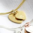Lisa Angel Engraved Personalised Sterling Silver Double Heart Bracelet