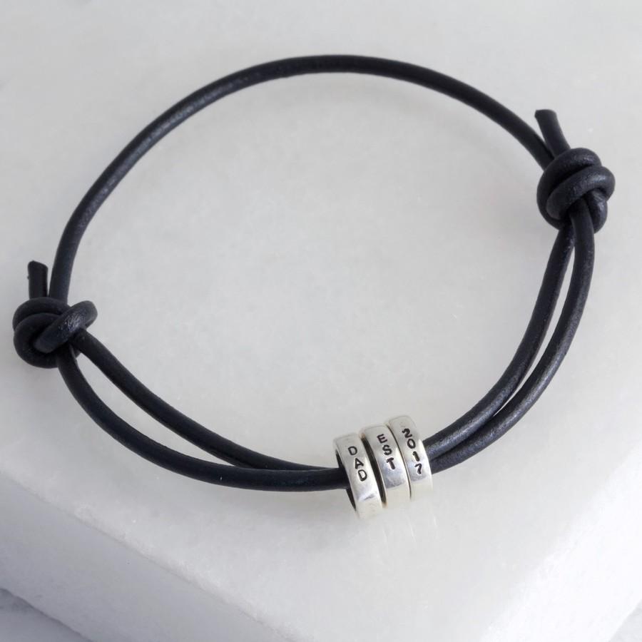Adjustable Leather Bracelet Brown Leather Bracelet Mens Leather Bracelet Tan Leather Bracelet