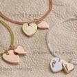Lisa Angel Ladies' Personalised Double Heart Charm Bracelets