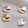 Lisa Angel Ladies' Sentimental Personalised Double Heart Charm Necklace