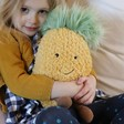 Lisa Angel with Cuddly Jellycat Amuseable Pineapple Soft Toy