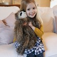 Lisa Angel with Cuddly Jellycat Cyril Sloth Soft Toy
