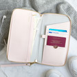 Lisa Angel with Ladies' Kikki.K Leather Travel Wallet with Zip: Pink