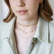 Lisa Angel Delicate Short Circle Charms Necklace in Gold