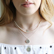 Lisa Angel Sterling Silver Constellation Pendant Necklace on Model