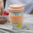 Lisa Angel Eco-Friendly Fruit Print Bamboo Travel Mug