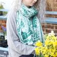 Lisa Angel Ladies' Summer Botanical Print Scarf in Green