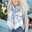 Lisa Angel Ladies' Summer Grey Butterfly Scarf