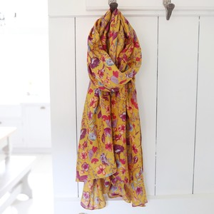 Watercolour Floral Scarf in Yellow