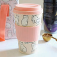 Lisa Angel Ladies' Sass & Belle Cutie Cat Bamboo Travel Mug
