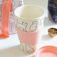 Sass & Belle Cutie Cat Bamboo Travel Mug