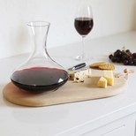 Wine Carafe & Oak Cheese Board Set