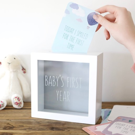f582a4eafd7 Lisa Angel Baby s First Year Memory Box and Milestone Cards