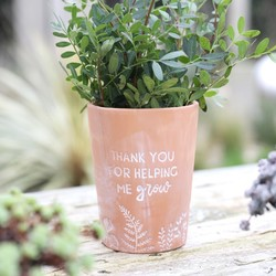 Floral u0027Thank Youu0027 Terracotta Plant Pot & Cheap Motheru0027s Day Gifts | Under £10 | Lisa Angel