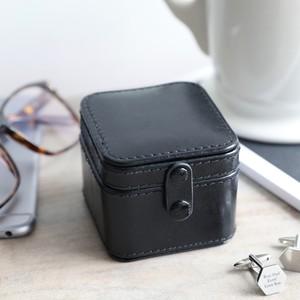 Men's Black Travel Cufflink Box