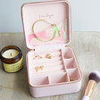 Inside of Personalised Block Initials Square Travel Jewellery Box