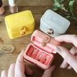 Lisa Angel Ladies' Personalised Petite Travel Ring Boxes