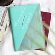 Lisa Angel Ladies' Turquoise Personalised Iridescent Passport Holder