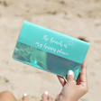 Lisa Angel Slim Turquoise Iridescent Quote Travel Wallets