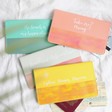 Lisa Angel Slim Iridescent Quote Travel Wallets