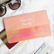 Lisa Angel Ladies' Pink Personalised Slim Travel Wallet