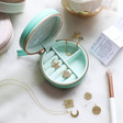 'Take Me With You' Jewellery Charm Set and Travel Case in Turquoise