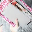 Lisa Angel Ladies' Large Zip Around Wallet in Grey