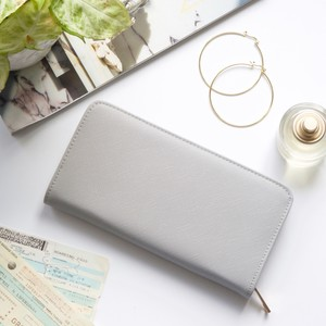 Large Zip Around Wallet in Grey