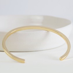 071bbaea03a8 Polished Gold Bar Bangle