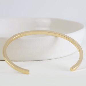 Polished Gold Bar Bangle