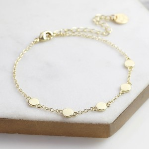 Circle Charms Bracelet in Gold