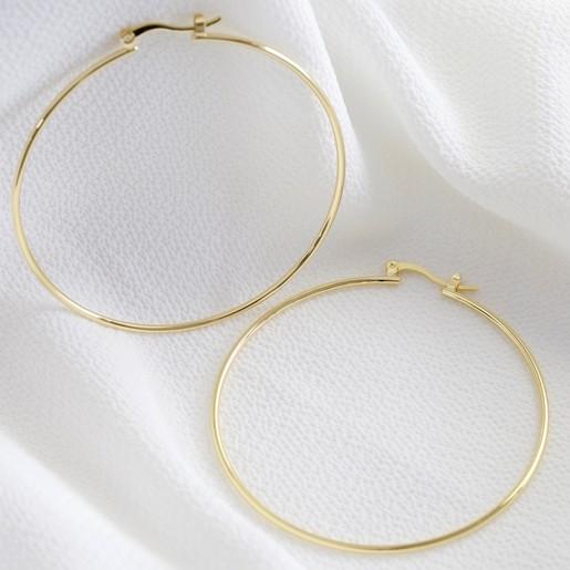 65ef6e53c Large Hoop Earrings in Gold | Ladies' Jewellery | Lisa Angel
