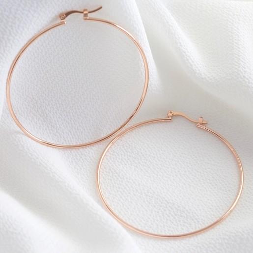 ad0189297 Large Hoop Earrings in Rose Gold | Jewellery | Lisa Angel