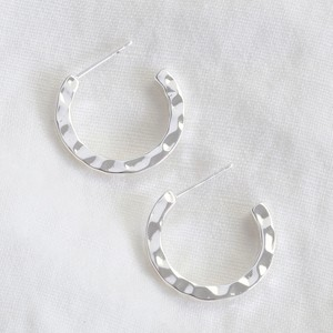 Small Hammered Silver Hoop Earrings