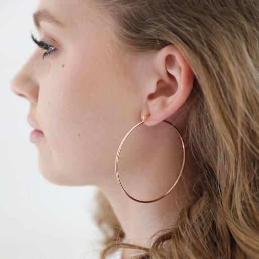8d12a81c4 Large Hoop Earrings in Rose Gold | Jewellery | Lisa Angel