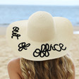 Ladies' 'Out of Office' Straw Hat on Model